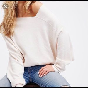 Like new Free People Check Sweater in Cream